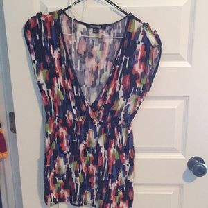 Abstract short sleeve dress